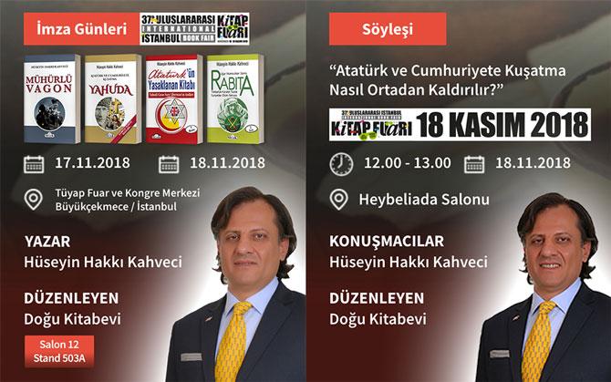 Hüseyin Hakkı Kahveci 37. İstanbul Tüyap Kitap Fuarı İmza Günleri ve Konferansı