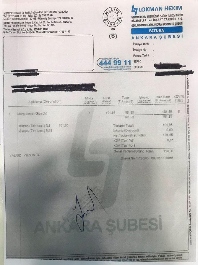 Morg Ücreti Skandalı