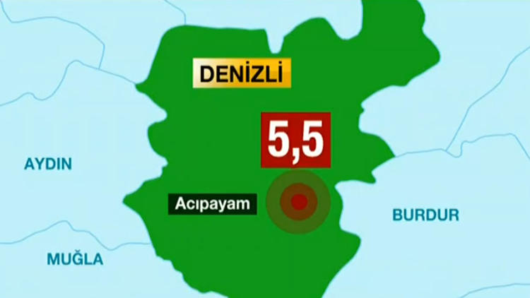DENİZLİ'DE 5.5 ŞİDDETİNDE DEPREM!