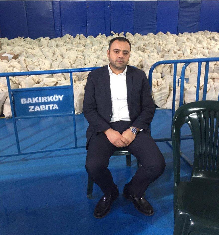 Nadir Ataman oy nöbetini Bakırköy'de tutuyor.
