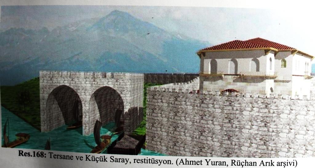 Kubadabad sarayında da kayıkhane bulunuyordu
