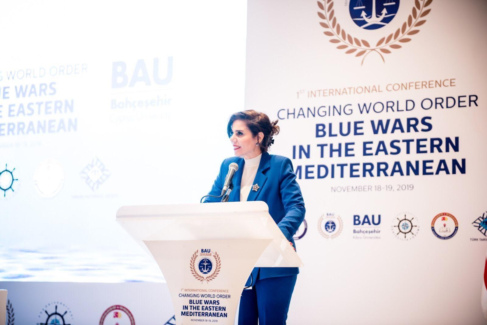 """Bahçeşehir Kıbrıs Üniversitesi, Deniz Hukuku Uygulama ve Araştırma Merkezi (BAU-DEHUKA) Direktörü Dr. Emete Gözügüzelli """"Güney Kıbrıs, İsrail, Yunanistan'ın öncüsü olduğu EastMED boru hat projeleri sadece bir hayaldir. Zira bölgede Türkiye dahil edilmeksizin herhangi bir adım atmaları mümkün değildir"""" dedi."""