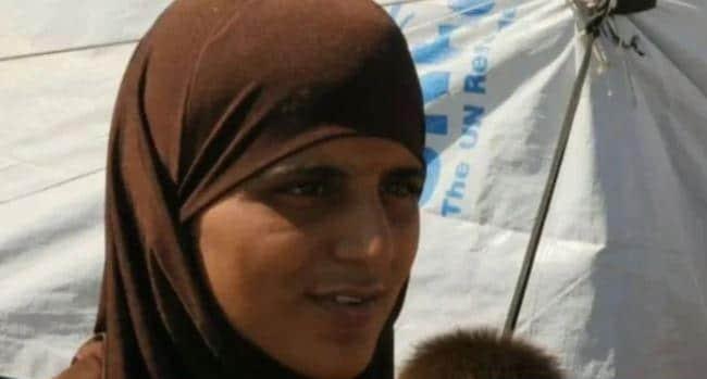 Tooba Gondal Ayn Issa'daki kampta