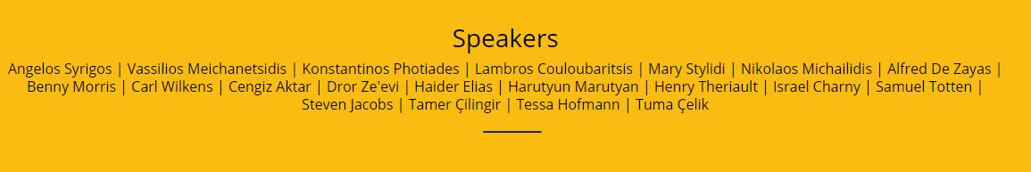 Konuşmacı listesi