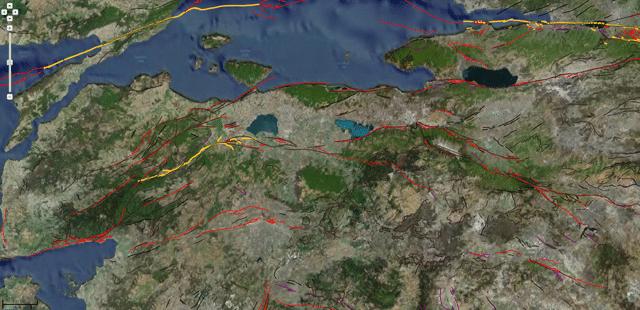 Şekil 1:Türkiye Diri Fay Haritası