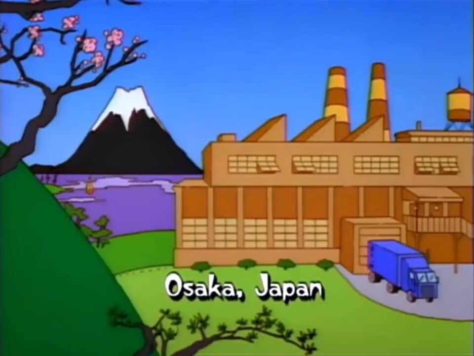 Simpsons Dizisi Japonya Osaka Şehrin'den Gelen Paket