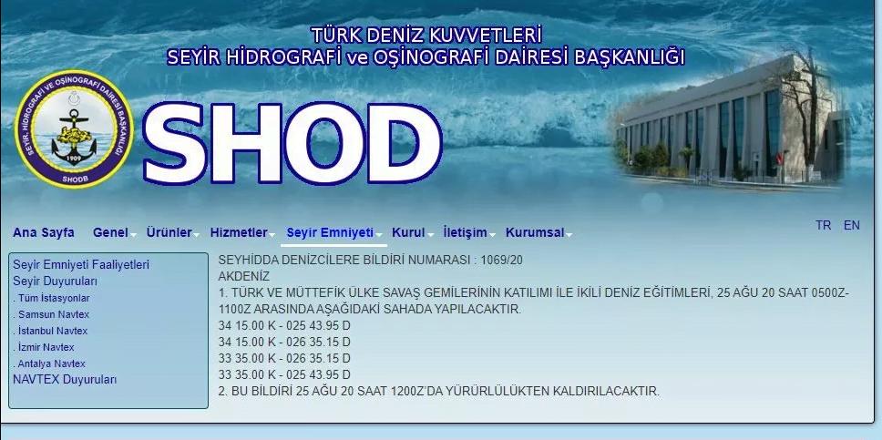 Türk Deniz Kuvvetleri, yarın Girit'in güneyinde tatbikat yapacak