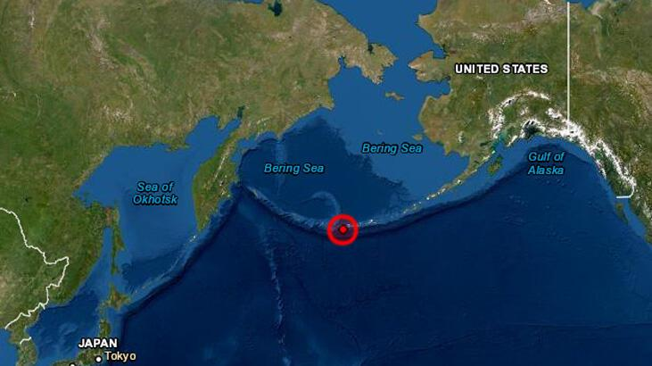 Alaska'nın Adak kentinden 6,1 şiddetinde bir deprem meydana geldi.